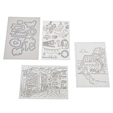 """Crafter's Companion Lee Holland """"Indoors"""" Stamps & Dies Set"""