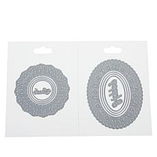 Crafter's Companion Ribbon-Threading Dies - Oval and Circle