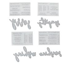 """Crafter's Companion """"Sympathy"""" Die and Stamp Set"""