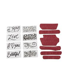 Crafter's Companion Typography Folder & Stamp Set