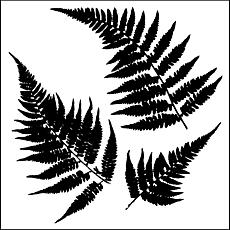 "Crafters Workshop 12"" x 12"" Plastic Template - Ferns"