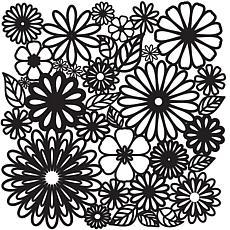 "Crafters Workshop 12"" x 12"" Template/Flower Frenzy"