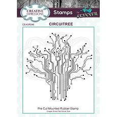 Creative Expressions Andy Skinner Circuitree Rubber Stamp