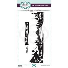 Creative Expressions Boutique Bucket List DL Pre Cut Rubber Stamp 2pk
