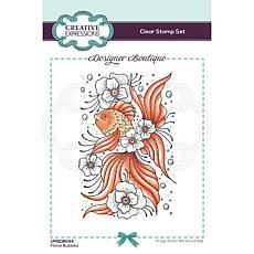 Creative Expressions Boutique Collection Floral Bubbles A6 Clear Stamp