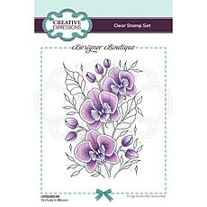 Creative Expressions Boutique Collection Orchids Bloom A6 Clear Stamp