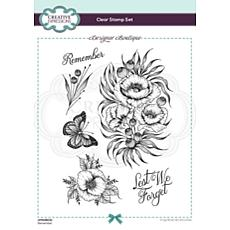 Creative Expressions Designer Boutique Remember A5 Clear Stamp Set