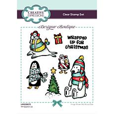 Creative Expressions Designer Boutique Wrapped Up A6 Clear Stamp Set