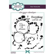 Creative Expressions Designer Collection A6 Stamp Set - Rose Loops