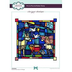 Creative Expressions Designer Stained Glass Away In a Manger Stamp