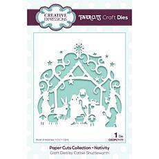 Creative Expressions Paper Cuts Scene - Nativity Craft Die