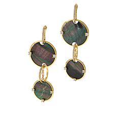 Cristina Sabatini 2-in-1 Gold-Tone Mother-of-Pearl Venus Earrings