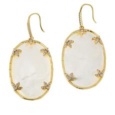 Cristina Sabatini Gold-Tone Il Fiore Mother-of-Pearl and CZ Earrings