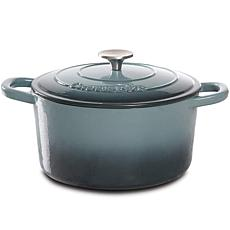 Crock Pot Zesty Flavors 5 Qt  Round Enameled Cast Iron Dutch Ovenn ...