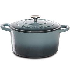 Crock Pot Zesty Flavors 5 Qt  Round Enameled Cast Iron Dutch Ovenn ...