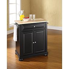 Crosley Alexandria Wood Top Portable Kitchen Island
