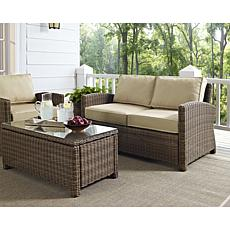 Crosley Bradenton 4pc Outdoor Wicker Seating Set - Sand