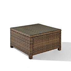 Crosley Bradenton Outdoor Wicker Glass Top Coffee Table