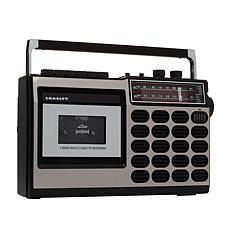 Crosley CT100 Cassette Player w/AM & FM Radio, Recorder & Bluetooth