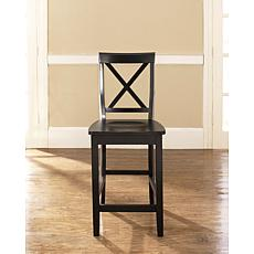 "Crosley Furniture X-Back 2-piece 24"" Bar Stool Set - Black"