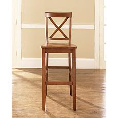 "Crosley Furniture X-Back 2-piece 30"" Bar Stool Set - Cherry"