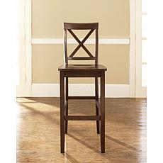 "Crosley Furniture X-Back 2-piece 30"" Bar Stool Set - Mahogany"