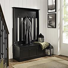 Crosley Ogden Entryway Hall Tree - Black