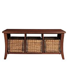 Crosley Wallis Entryway Bench with Baskets