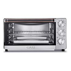 CRUX 6-Slice Convection Toaster Oven w/ Adjustable Grill Rack & Timer