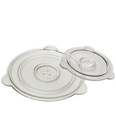 "Cuchina Safe 8"" and 11"" Vented Glass Lids"