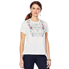 Curations Embroidered Tee