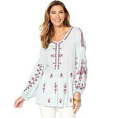 Curations Embroidered Tunic