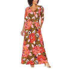 Curations Surplice Knit Maxi Dress