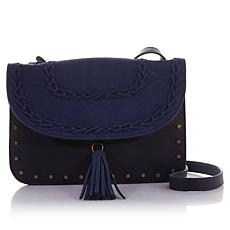 Curations Whipstitch Faux-Suede Crossbody