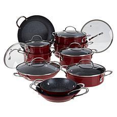 Curtis Stone 17-piece Dura-Pan Nonstick Nesting Cookware Set