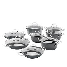Curtis Stone Dura-Pan Nonstick 15-piece Nesting Cookware Set