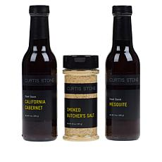 Curtis Stone Steak Sauces & Seasoning 3-piece Collection Auto-Ship®