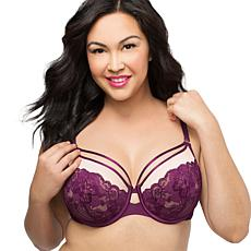 Curvy Couture Tulip Strappy Lace Underwire Push-Up Bra bb80f2870