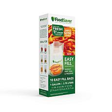 D & H FoodSaver Easy Fill 1-gallon Vacuum Sealer Bags, 10 Count