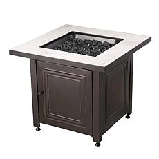 D & H Uniflame LP Gas Fire Table in Black Beige