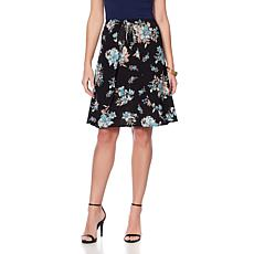 Daisy Fuentes Printed Wrap Skirt
