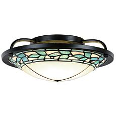 Dale Tiffany Green Leaves Semi-Flush Mount