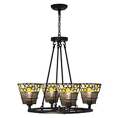 Dale Tiffany Pasqual 4-Light Mesh Tiffany Hanging Fixture