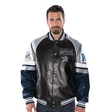 Dallas Cowboys Men's Faux Leather Varsity Jacket