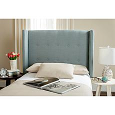 Damon Linen Winged Headboard - Twin