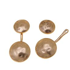 "Danielle Nicole ""Blushing"" Front-to-Back Disc Earrings"