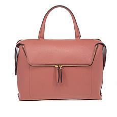 Danielle Nicole Large Zipper Pocket Leather Satchel