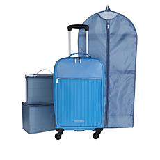 Danielle Nicole Modern Jetsetter Waterproof Carry On Luggage
