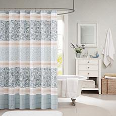 "Dawn 100% Cotton Shower Curtain - Blue/72"" x 72"""