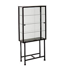 Dayton Metal and Glass Sliding-Door Display Cabinet